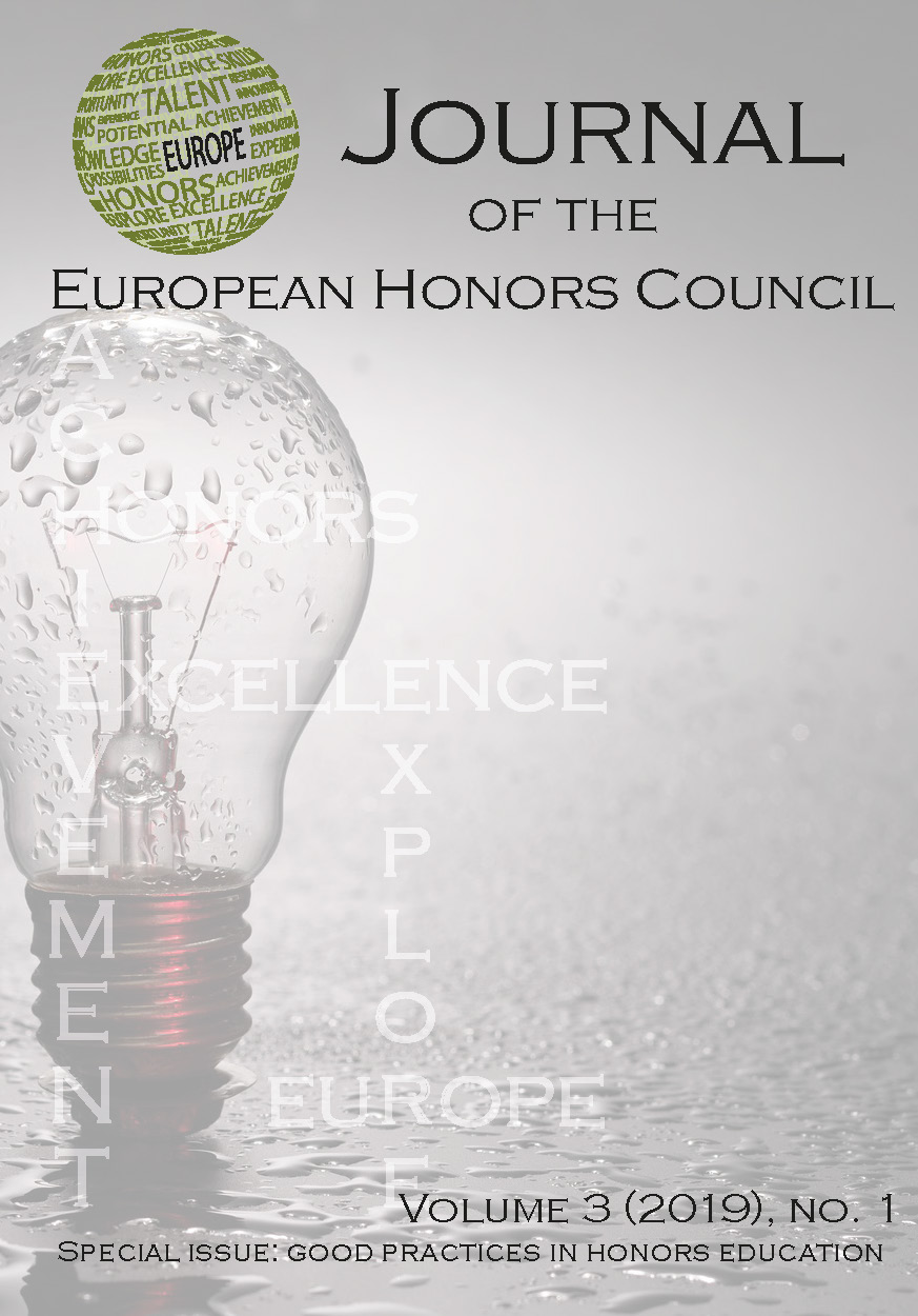 View Vol. 3 No. 1 (2019): Special issue: Good practices in honors education